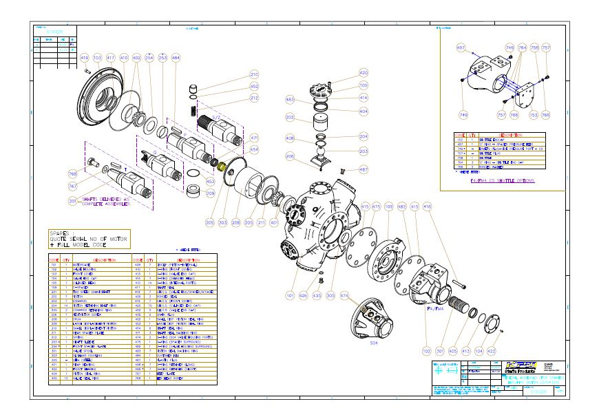 HPC 7 Cylinder Spares Drawing